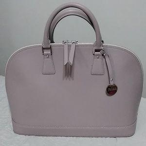 Fiore genuine leather made in Italy purse gray